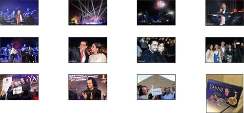 Photos Yanni concert in Egypt