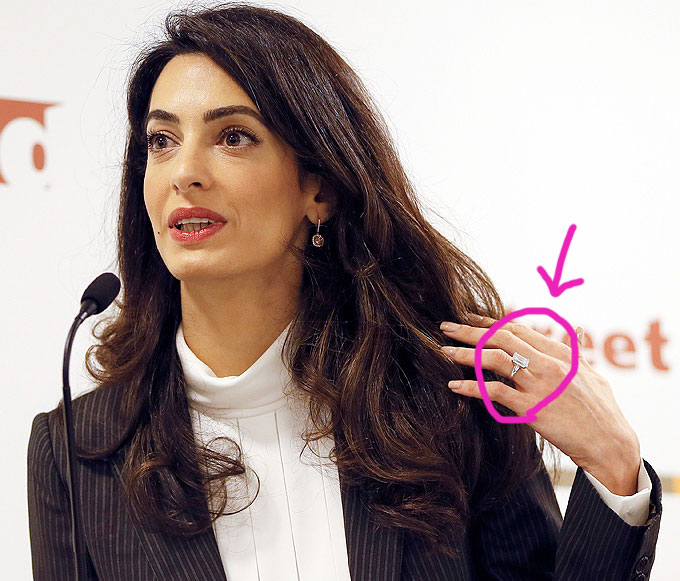 Amal Clooney Ring