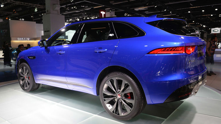 jaguar f-pace rear view