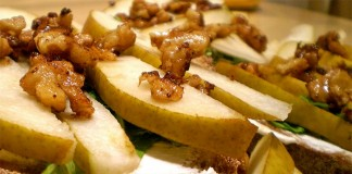 Walnut, Cheese & Pear Starter