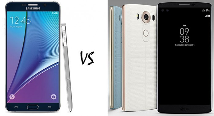 Samsung Galaxy Note 5 vs LG V10