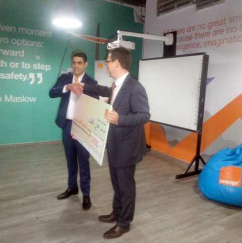Ali Tabbalat greenwallet winner orange big jordan