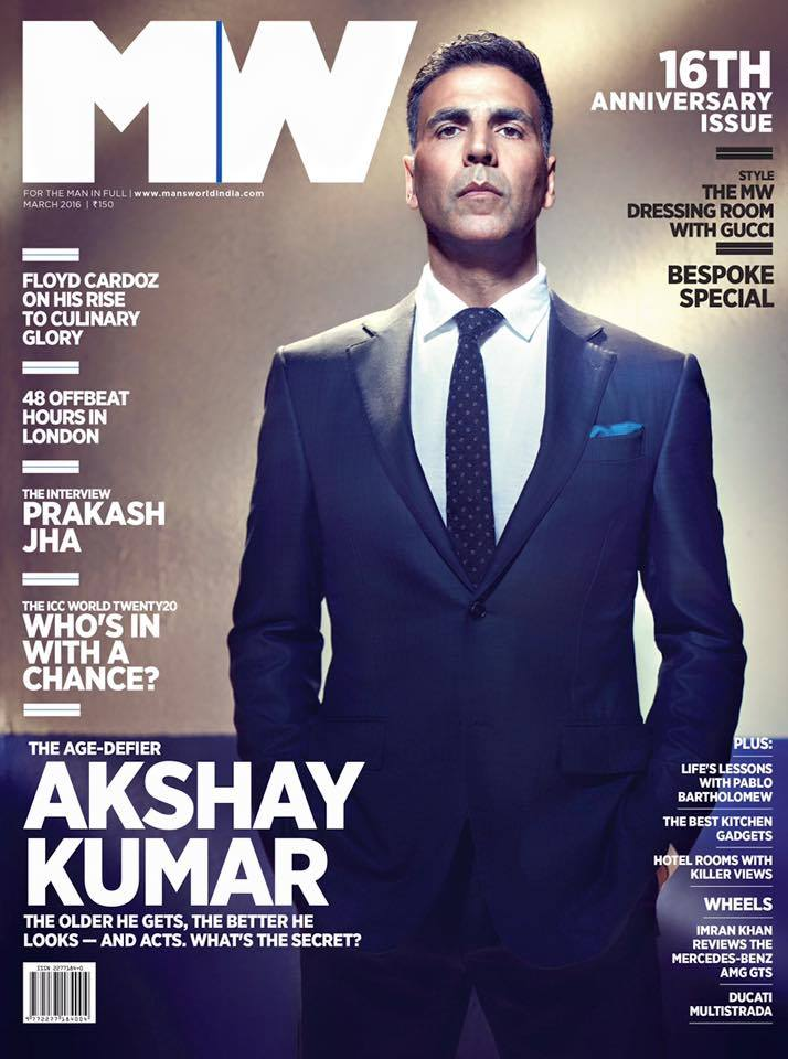 Akshay Kumar on Man's World Magazine cover