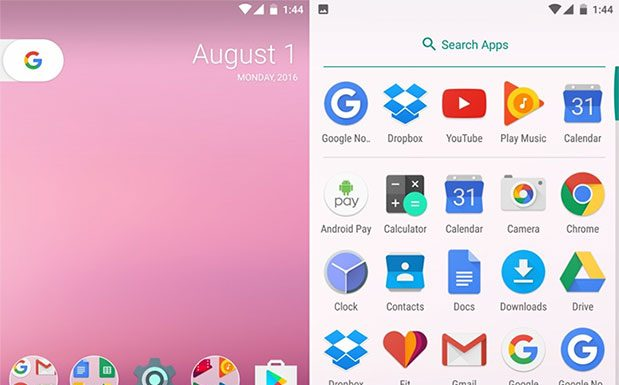 Google 2016 Nexus Launcher