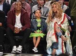 Blue Ivy, Beyonce and Jay Z